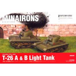 MIN-GEV005 T-26 A & B tank - Spanish Civil War -