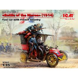 ICM-35660 Battle of the Marne. Taxi w/ French Infantry (1914)