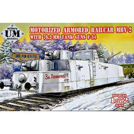 UM-677 Motorized Armored Railcar MBV-2 w/76,2mm Tank Guns F-34