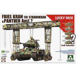 TAK-2108 Friees Kran 16t Strabokran, 1943/44 Production combined with Panther (with full interior)
