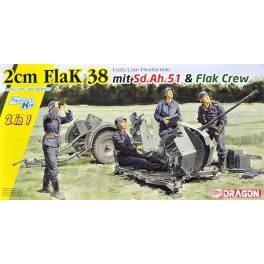 DRG-6942German 2cm Flak 38 Early/late production mit.Sd.Ah51