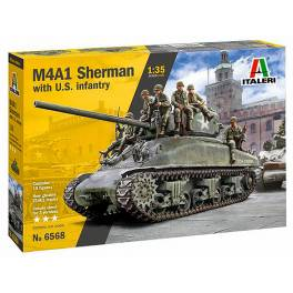 ITA-6568 M4A1 Sherman w/ US Infantry