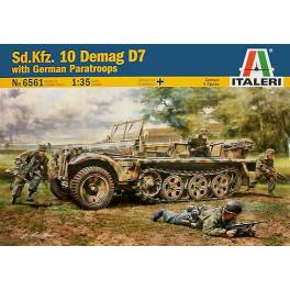 ITA-6561 Sd-Kfz. 10 Demag D7 w/German Paratroops