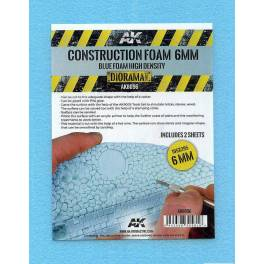 AK-8096 Construction Foam 6mm. (2 Sheets)