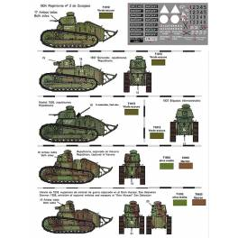 FCM-72201 Decals for FT-17 in Spain (1/72)
