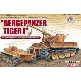 LOW COST! DRG-6865 Bergepanzer Tiger I w/Borgward IV A Demolition Vehicle