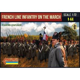 STR-173 French Line Infantry on the March. Flanking Companies