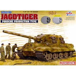 DRG-6925 Jagdtiger Porsche Production w/Zimmerit