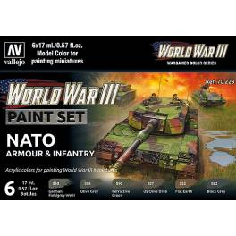 AV-70223 WWIII NATO Armour & Infantry Paint Set