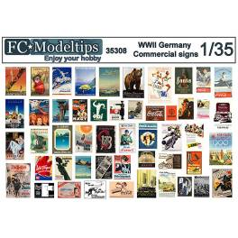 FCM-35308 Decals German Commercial Posters WWII