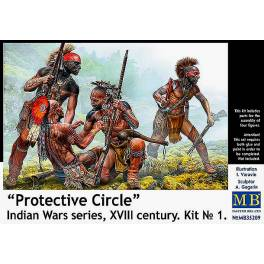 MB-35209 Protective Circle. Indian Wars. XVIII Century