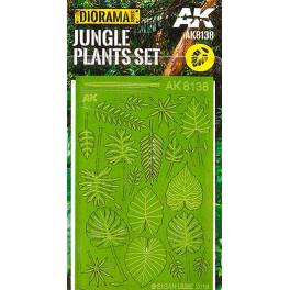 AK-8138 Jungle Plants Set (CO2 Laser-cut )