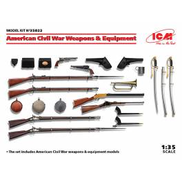 ICM-35022 American Civil War weapons & equipment models.