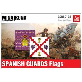 MIN-20GSC002 Spanish Guards flags