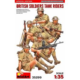 MNA-38299 British Soldiers Tank Riders WW2