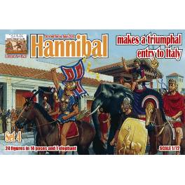 LIN-A023 Hannibal makes a triumphal entry to Italy Set 4