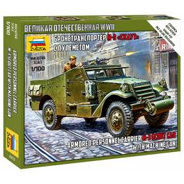 ZVD-6273 Russian Armored Personnel Carrier M-3 Scout Car with Machine Gun